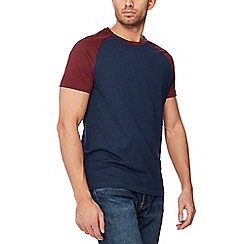 Red Herring - Navy raglan sleeve slim fit t-shirt