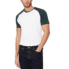 Red Herring - White raglan sleeve slim fit t-shirt