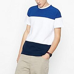 Red Herring - Bright Blue Colour Block Cotton T-Shirt