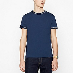 Red Herring - Navy Tipped Cotton T-Shirt