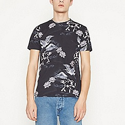 Red Herring - Big and Tall Navy Floral Crane Cotton T-Shirt