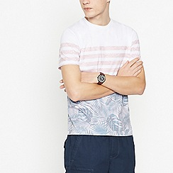 Red Herring - Big and tall peach chest stripe t-shirt