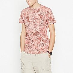 Red Herring - Big and tall peach palm t-shirt