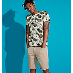 Red Herring - Big and tall off white pineapple t-shirt