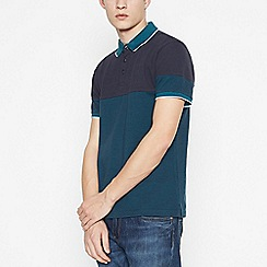 Red Herring - Big and Tall Turquoise Cotton Polo Shirt
