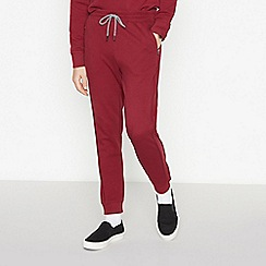 Red Herring - Dark Red Piped Jogging Bottoms