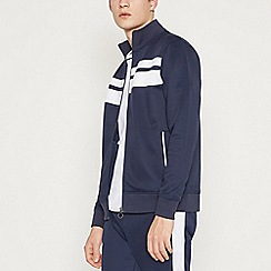 Red Herring - Big and Tall Navy Side Stripe Track Top