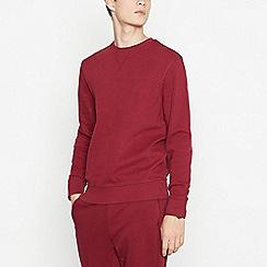 Red Herring - Big and tall dark red sweatshirt