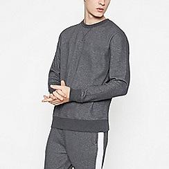 Red Herring - Dark Grey Textured Sweatshirt
