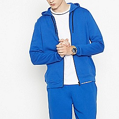 Red Herring - Big and tall blue zip through hoodie