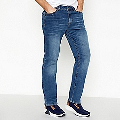 Red Herring - Blue mid wash straight fit jeans