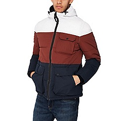 Red Herring - Multicoloured colour block padded coat