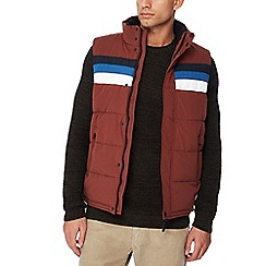Red Herring - Red padded chest stripe gilet