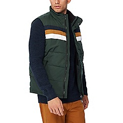 Red Herring - Green padded chest stripe gilet