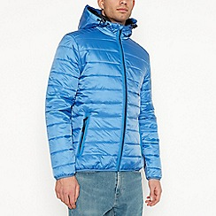 Red Herring - Big and tall bright blue hooded padded coat
