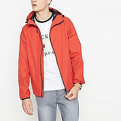 Red Herring - Big and tall red waterproof hooded jacket