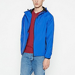 Red Herring - Big and tall blue waterproof hooded jacket