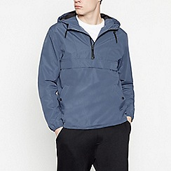 Red Herring - Big and Tall Dark Blue Overhead Jacket