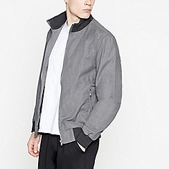 Red Herring - Big and Tall Grey Bomber Jacket