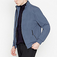 Red Herring - Big and Tall Dark Blue Bomber Jacket
