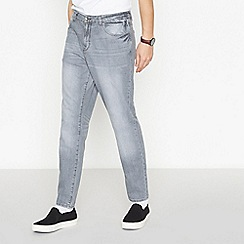Red Herring - Grey Mid Wash Tapered Fit Jeans