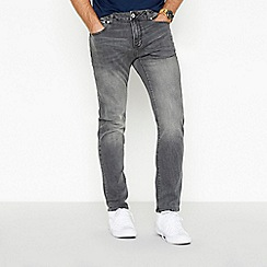 Red Herring - Grey mid wash skinny jeans