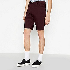 Red Herring - Big and tall wine cotton shorts