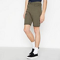Red Herring - Big and tall khaki cotton shorts