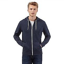 Red Herring - Navy zip through hoodie