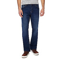 Red Herring - Big and tall blue mid wash bootcut jeans