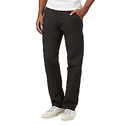 Red Herring - Dark grey straight leg chinos