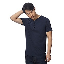 Red Herring - Navy notch neck top