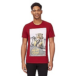 Help for Heroes - Dark red fox print t-shirt