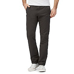 Red Herring - Big and tall dark grey slim chinos