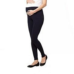 Red Herring Maternity - Navy full length maternity leggings