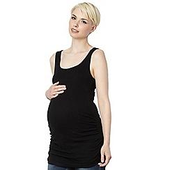 Red Herring Maternity - Black ribbed maternity vest