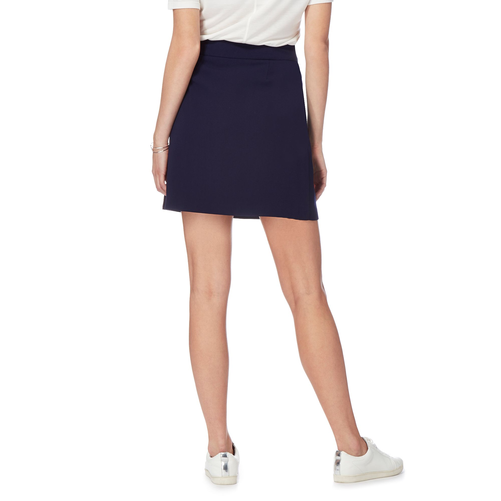 herring womens navy six button skirt from debenhams ebay