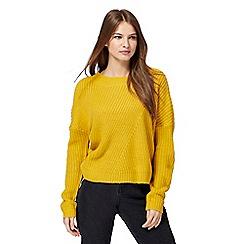 Noisy may - Yellow chunky knit jumper
