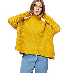 Noisy may - Yellow knitted high neck jumper
