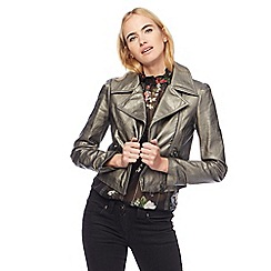 Red Herring - Metallic biker jacket