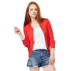 Red Herring - Red zip through cardigan