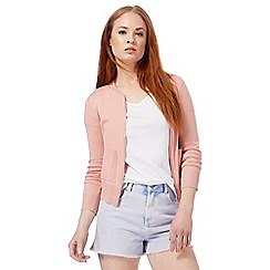 Red Herring - Pink zip through cardigan