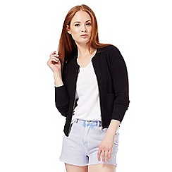 Red Herring - Black zip through cardigan