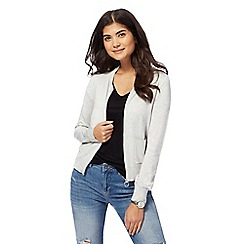 Red Herring - Grey zip through cardigan