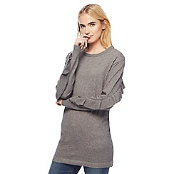 Red Herring - Grey frill sleeves tunic
