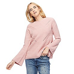 Red Herring - Pink pointelle chunky jumper