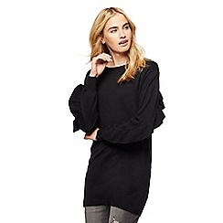 Red Herring - Black frill sleeves tunic