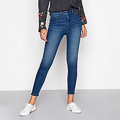 Red Herring - Blue 'Heidi' high-waisted skinny jeans