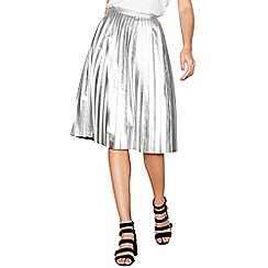 Noisy may - Silver pleated midi skirt