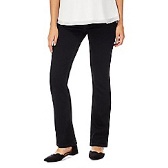 Red Herring Maternity - Black maternity fit bootcut jeans